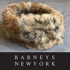 NWT Barney's NY 100% Rabbit Fur Headband